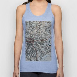 Vintage Map of Charlottesville Virginia (1949) Unisex Tank Top