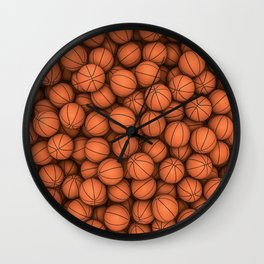 Basketballs Wall Clock