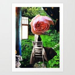 garden seat - collage Art Print