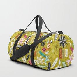 tiki yellow Duffle Bag