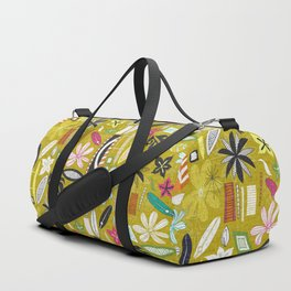 tiki yellow Duffle Bag