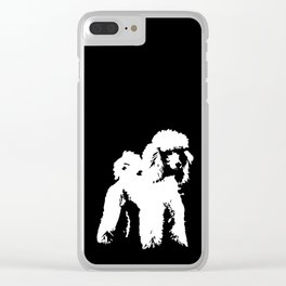 PET POODLE DOG Clear iPhone Case