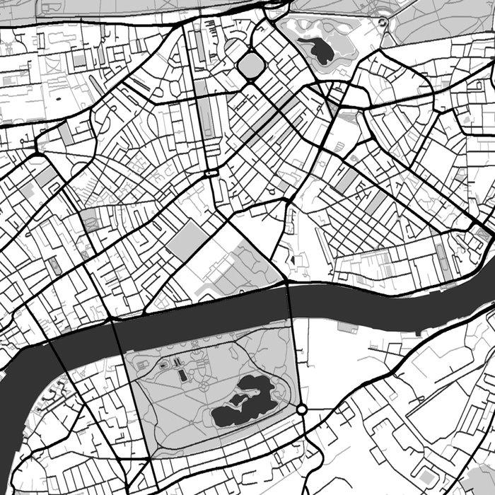 London Map Gray Leggings