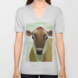 The Jersey - the prettiest cow in the world Unisex V-Neck