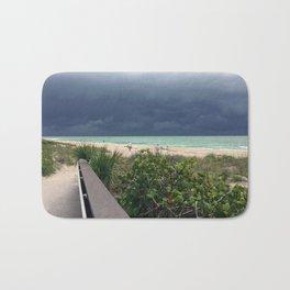 Stormy Sky, Aqua Sea Bath Mat