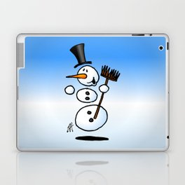 Dancing snowman Laptop & iPad Skin