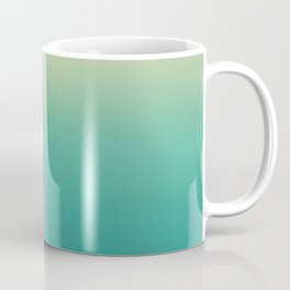 Modern turquoise lime green ombre color block pattern Coffee Mug