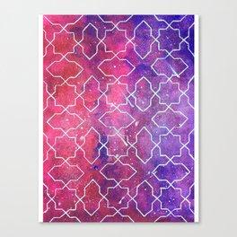 The Infinity Night Sky with Islamic Tesselation Canvas Print