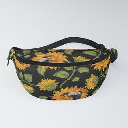 Pug Sunflowers Fanny Pack