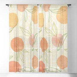 Summer Citrus Mix Sheer Curtain