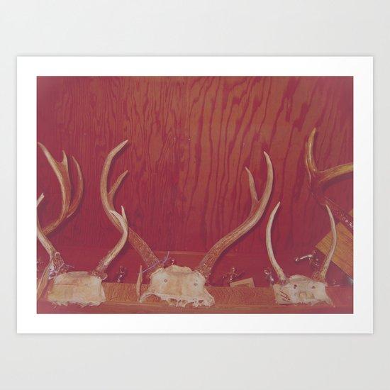 Great Grandpa's Antlers Art Print