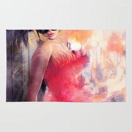 Painted Fan Dancer - Dressing Room Break Rug