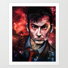Tenth Doctor Art Print