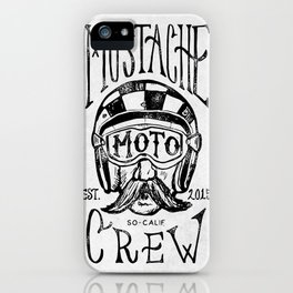 Mustache Moto Crew iPhone Case