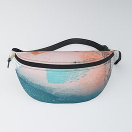 Poetry [2]: a vibrant abstract mixed-media painting in teal and pink by Alyssa Hamilton Art Fanny Pack