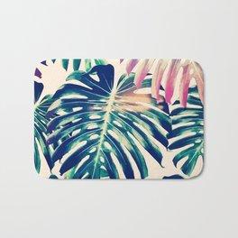 Colorful Tropical Leaves Bath Mat
