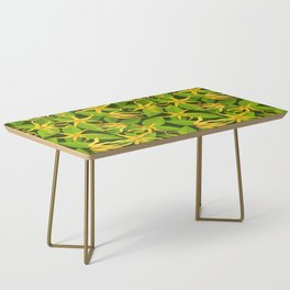 Ylang Ylang Exotic Scented Flowers and Leaves Pattern Coffee Table
