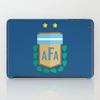 argentina iPad Cases featuring WORLDCUP IS COMING! - ARGENTINA by Andres Corredor