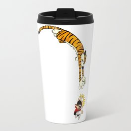 Calvin and hobbes comics tiger Travel Mug