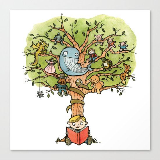 StoryTime Tree Canvas Print