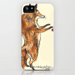 Christmas Fox iPhone Case