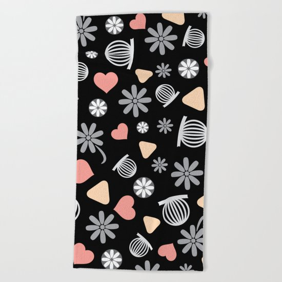 Lovely Pattern VII Beach Towel