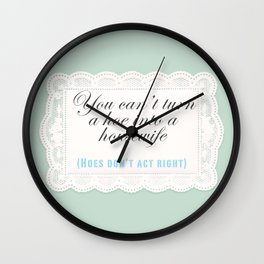 Hoe into a Housewife Wall Clock