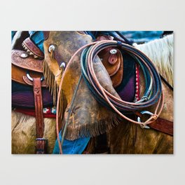 Tools of the Trade - Cowboy Saddle Closeup Canvas Print