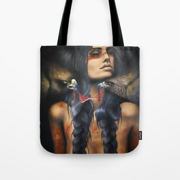 Running Eagle Tote Bag