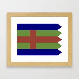 Jutland Flag Framed Art Print