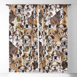 Social English Bulldog Blackout Curtain