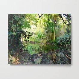 Jungle Pond Metal Print