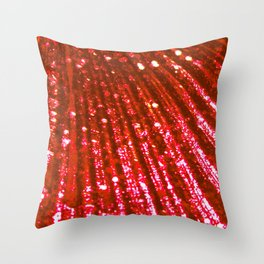 Triton´s Secrets Red Coral Throw Pillow