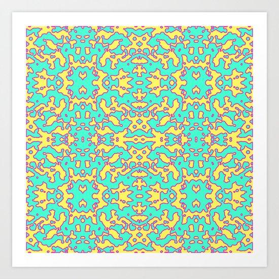 Electric Pattern Art Print
