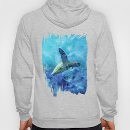 Sea Turtle Into The Deep Blue Hoody