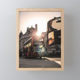 ArWork Bus Piccadily Sunset London ArtPhoto Art Framed Mini Art Print