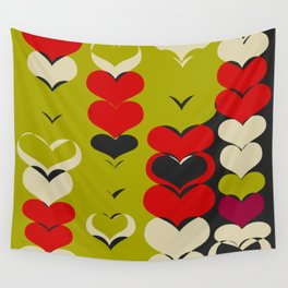 HAPPY HEARTS N17 Wall Tapestry