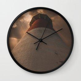Luminous Lighthouse on Long Beach Island Wall Clock