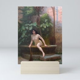 Truth Coming Out Of Her Well To Shame Mankind Jean-Leon Gerome Mini Art Print