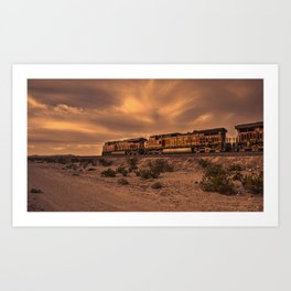 Desert Freight  Art Print