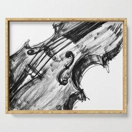 Black Violin Serving Tray