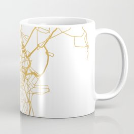 BOSTON MASSACHUSETTS CITY STREET MAP ART Coffee Mug