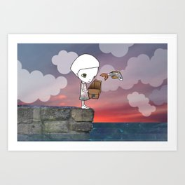 Gone Fishing (2) Art Print