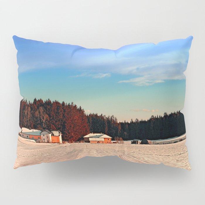 Amazing vivid winter wonderland | landscape photography Pillow Sham