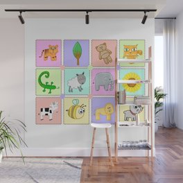 Kiddies puzzle pieces prints Wall Mural