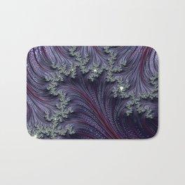 Purple Violet Wispy Feathery Elegant Fancy Beautiful 3D Swirling Flourish Abstract Fractal Art Bath Mat