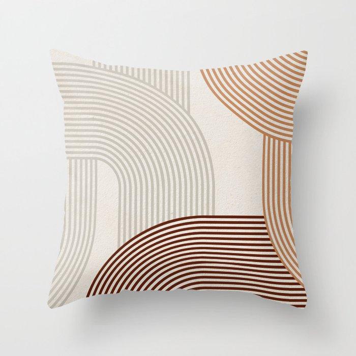 Mid Century Line Art I Throw Pillow