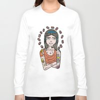 simpson Long Sleeve T-shirts featuring Saint Simpson by A+A Noisome Art
