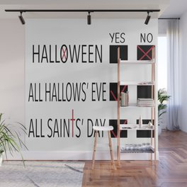 Anti-Halloween, All Hallows' Eve, All Saints' Day Christian Design Wall Mural