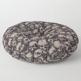 Skulls Seamless Floor Pillow